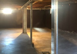 Beams and finished concrete