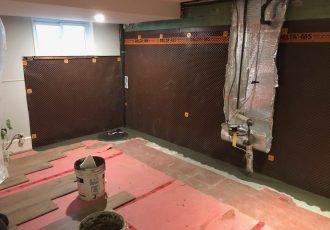 Interior waterproofing installation