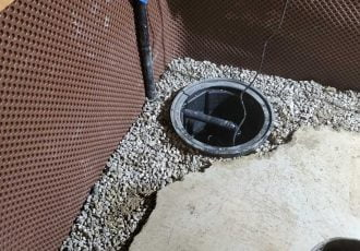 Sump with gravel