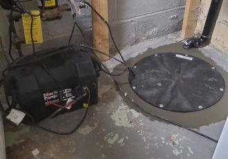 Sump with battery back up system