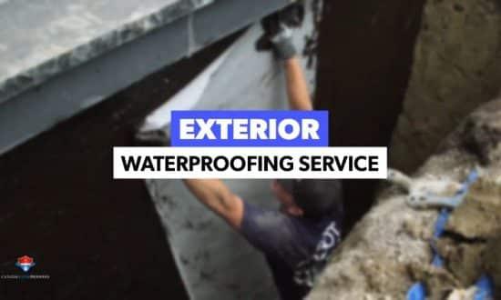 Exterior waterproofing project Brampton