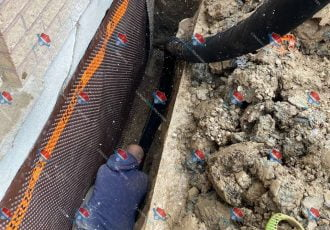 Foundation weeper or french drain