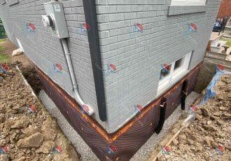 EXTERIOR WATERPROOFING, WALL OPEN