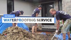 Waterproofing Toronto basement from outside
